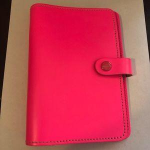 Filofax Original Personal Planner in Fluoro Pink